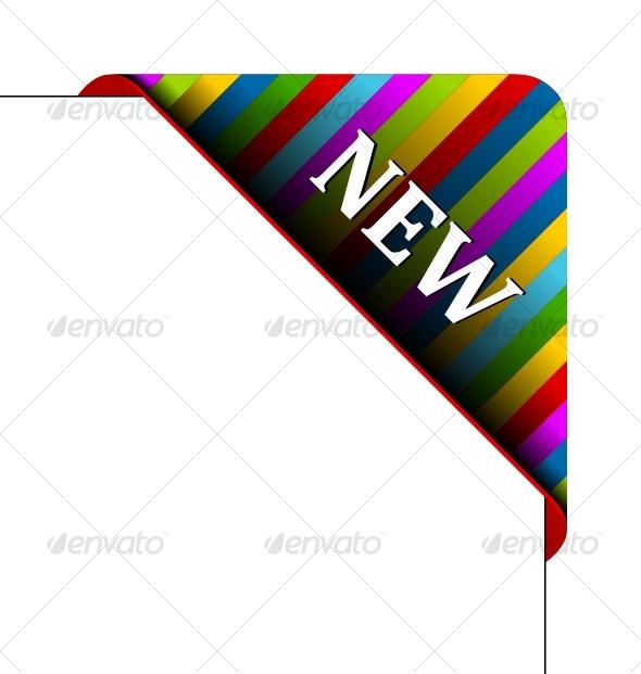 GraphicRiver Vector corner Business ribbon 88057