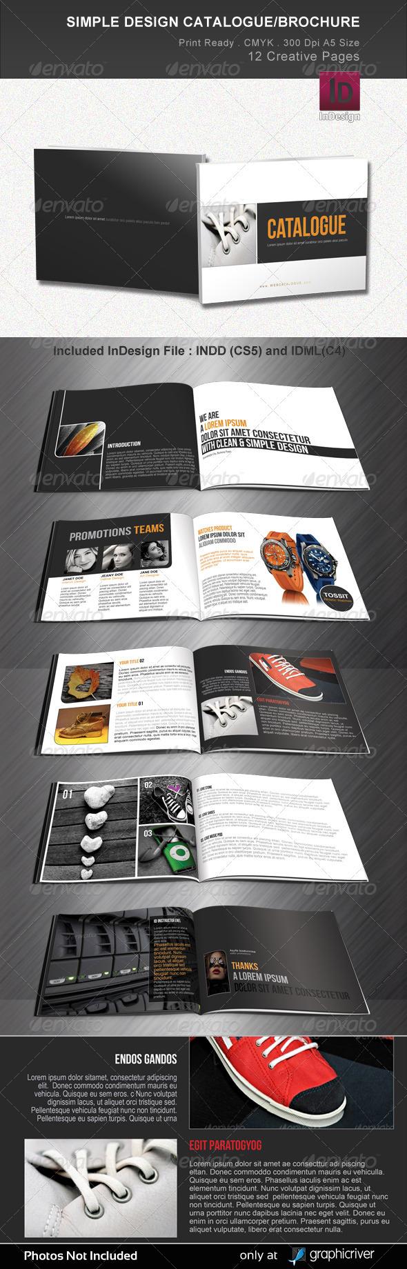 GraphicRiver Simple Design Catalogue Brochure 2387243