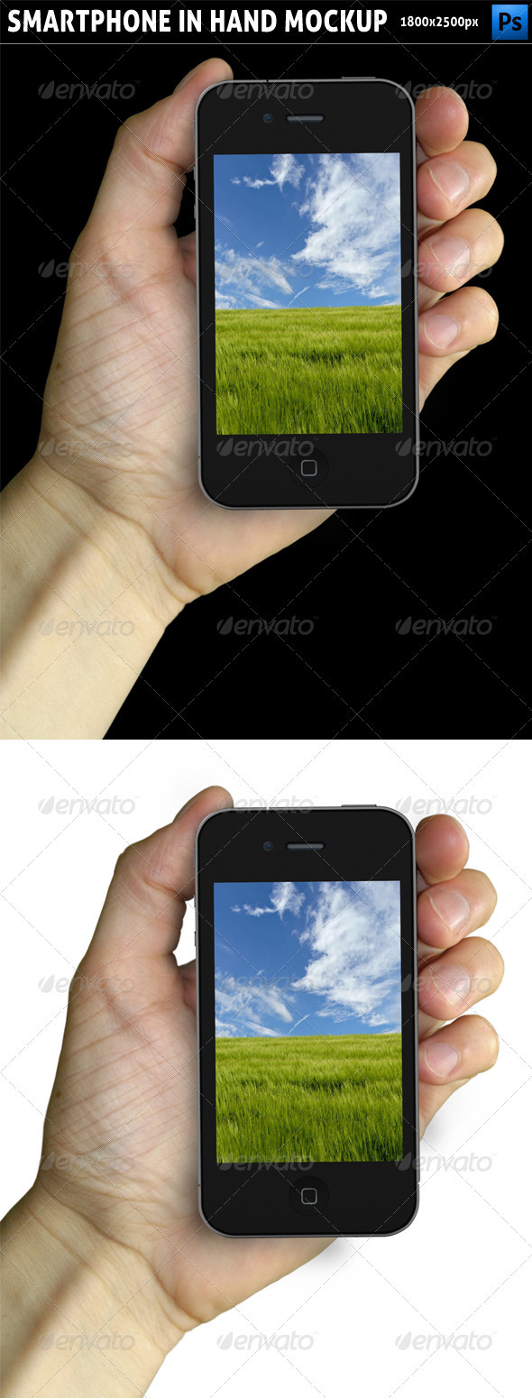 GraphicRiver Smartphone in Hand Mockup 2387627