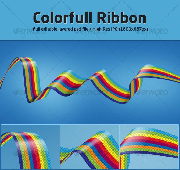 GraphicRiver Colorfull Ribbon 88115