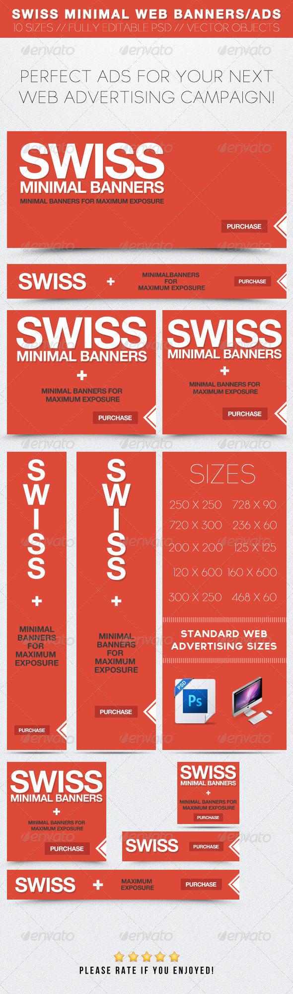 GraphicRiver Swiss Minimal Web Banners Ads 2390693