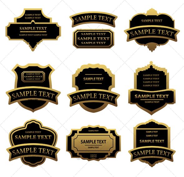 GraphicRiver Set of golden labels 88169