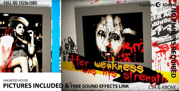 After Effects Project - VideoHive Haunted House 2372612