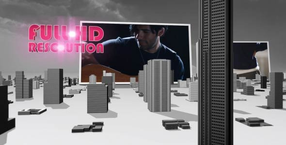VideoHive 3D City Top Of The World 2393449