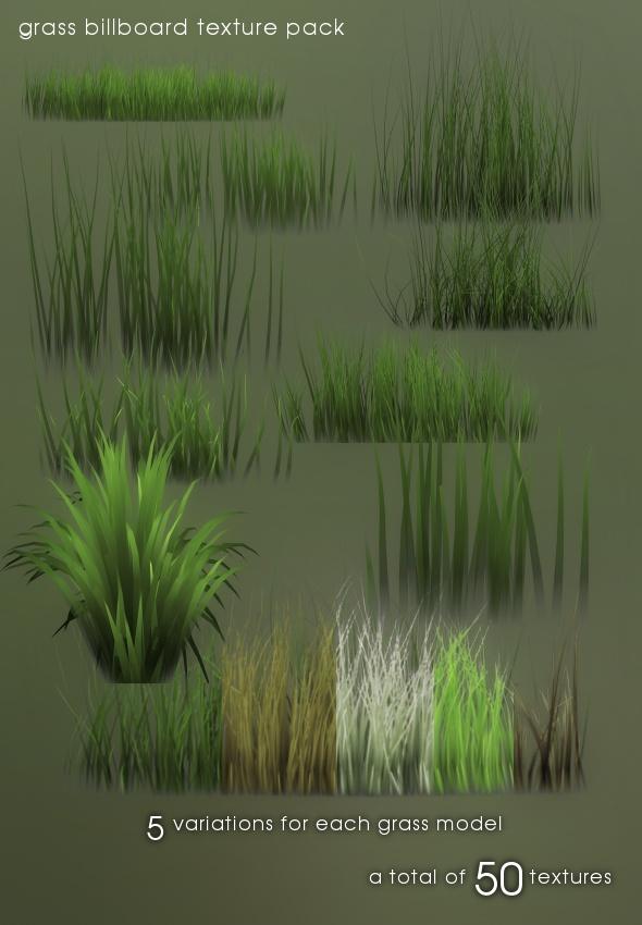 3DOcean Grass billboard texture pack 88229