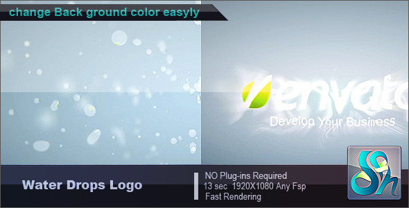 After Effects Project - VideoHive Water Drops Logo 2393943