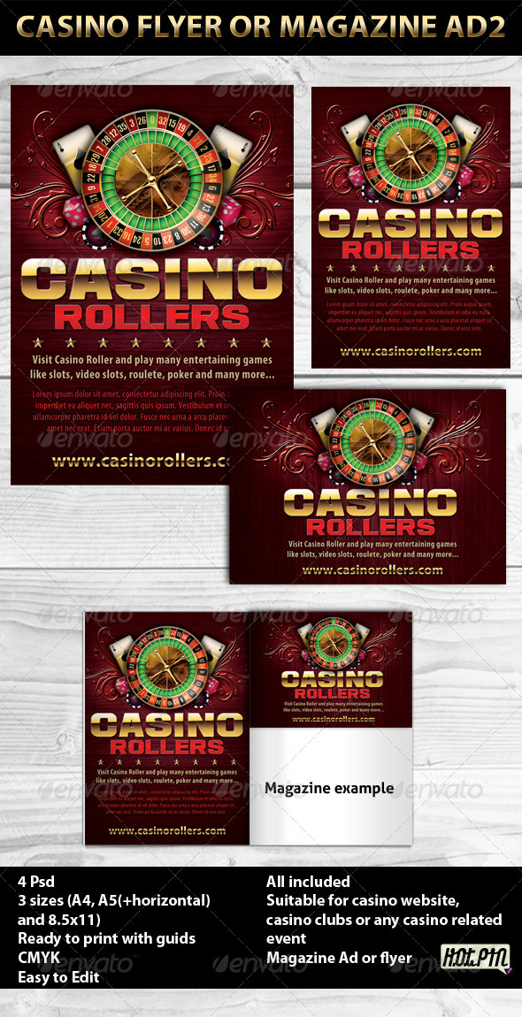 Graphic River Casino Magazine Ads or Flyers 2 Print Templates -  Flyers  Events  Sports 235462