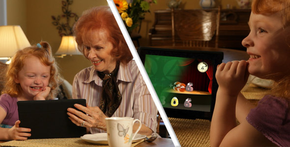 VideoHive Grandchild Tablet App ScreenDub 2395125