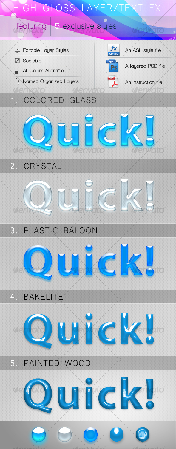 GraphicRiver High Gloss Layer Text FX 88274