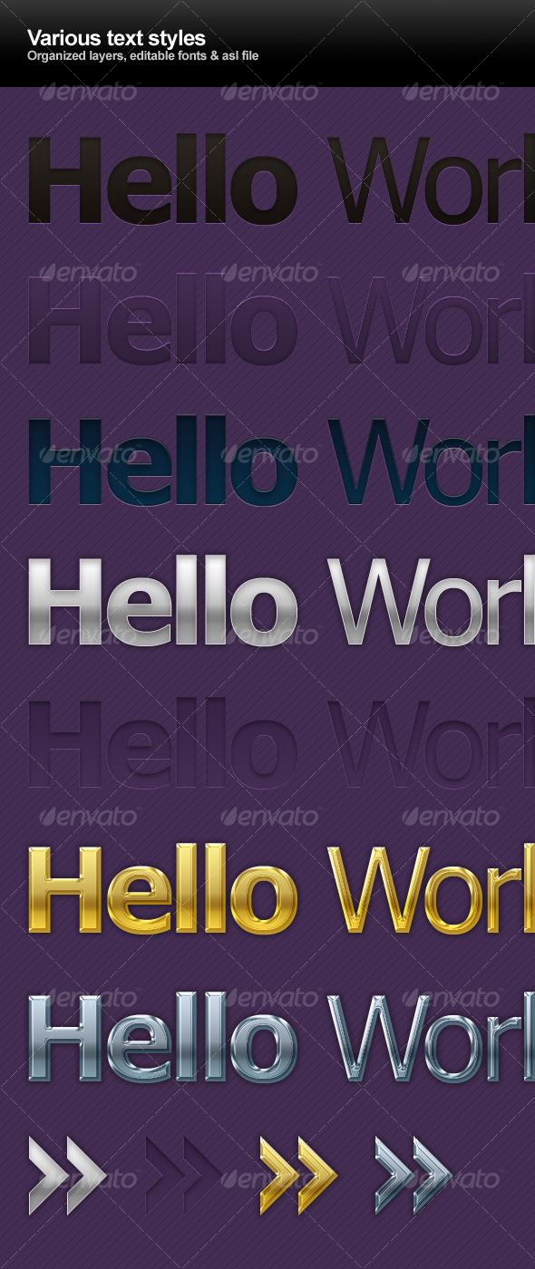 GraphicRiver Various text styles 88306