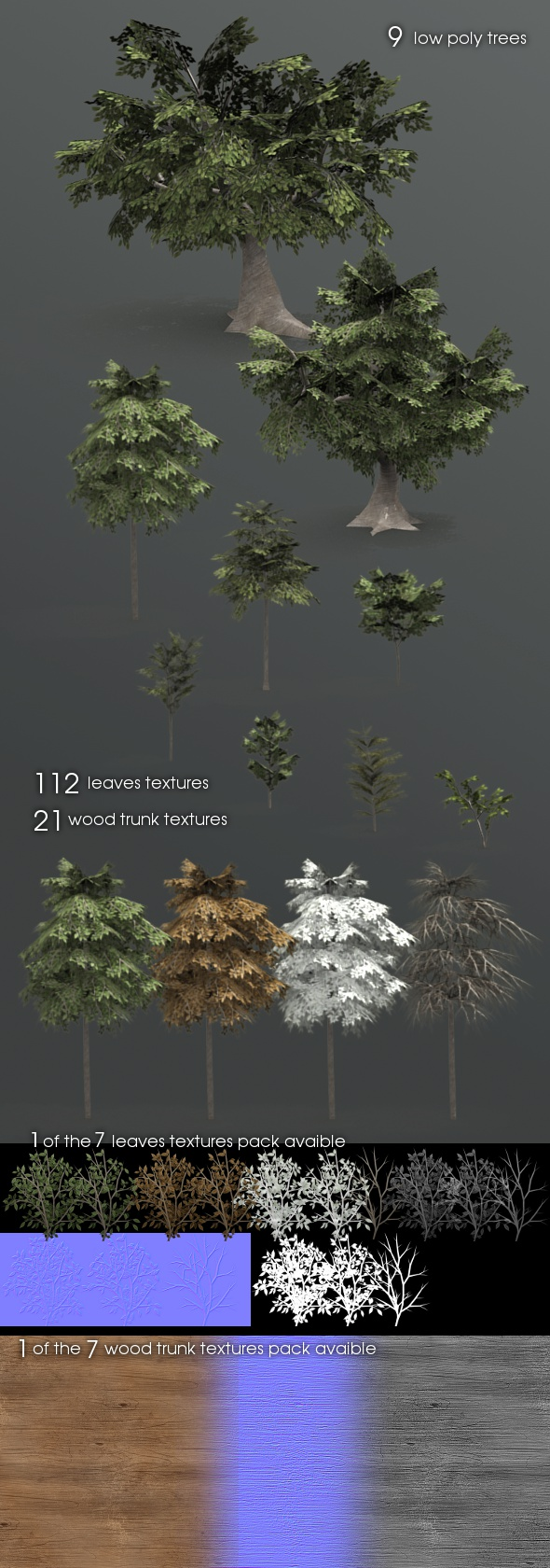 3DOcean 9 forest trees 85041