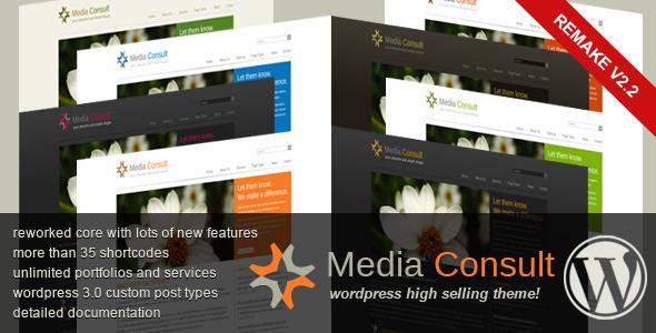 ThemeForest Media Consult Business Wordpress Theme 102888