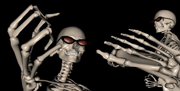 VideoHive Skeleton Funny Fight 2397193