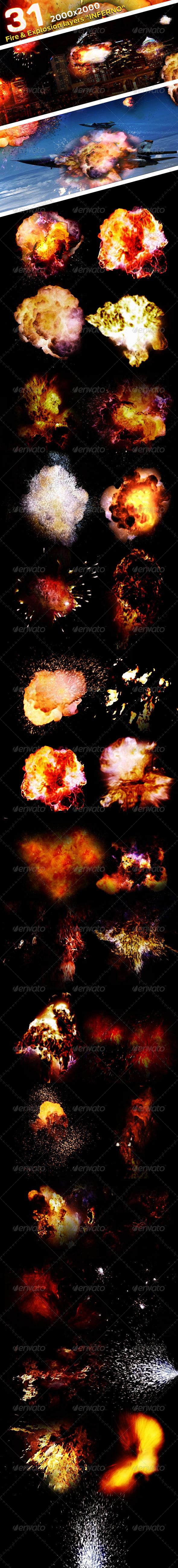 GraphicRiver 31 Fire & Explosion Frames Inferno 2363915