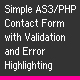 AS3/PHP Contact Form with Validation - ActiveDen Item for Sale