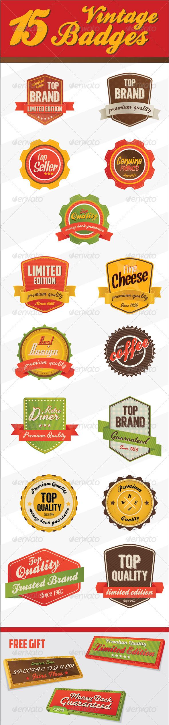 GraphicRiver Retro Vintage Badges & logo 2399605