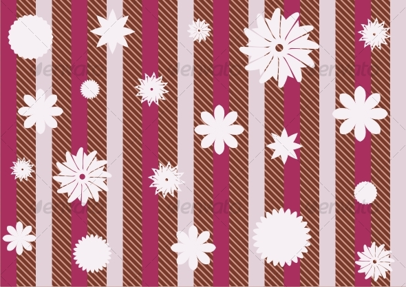 GraphicRiver Striped floral wallpapers 88568