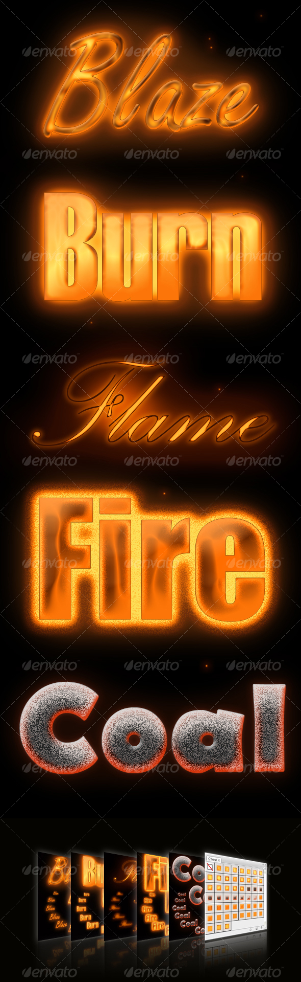 GraphicRiver Flame styles 88576