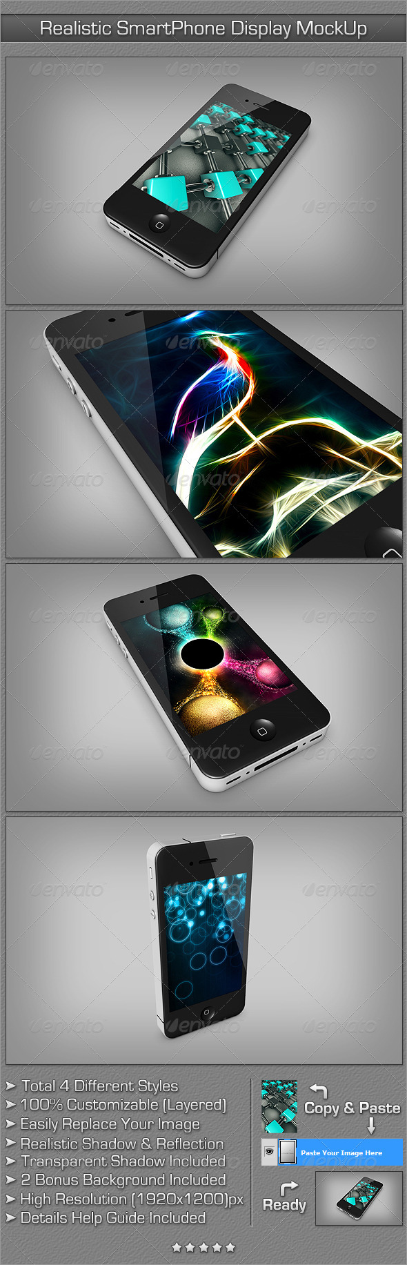 GraphicRiver Realistic SmartPhone Display MockUp 2406245