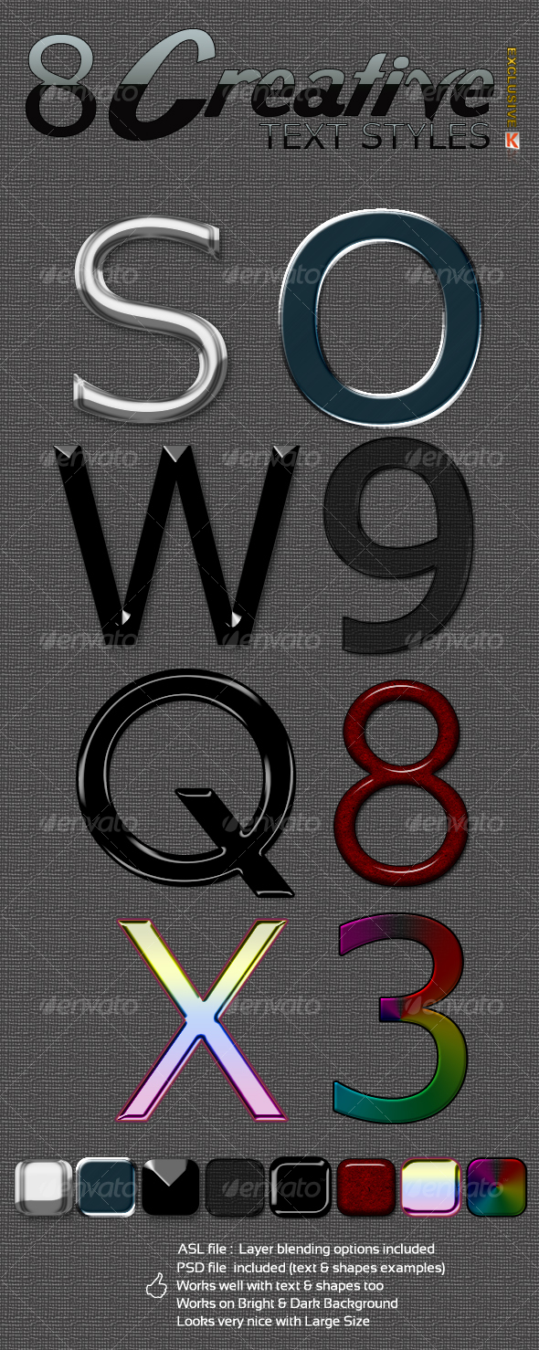 GraphicRiver Creative text effects & styles 88674