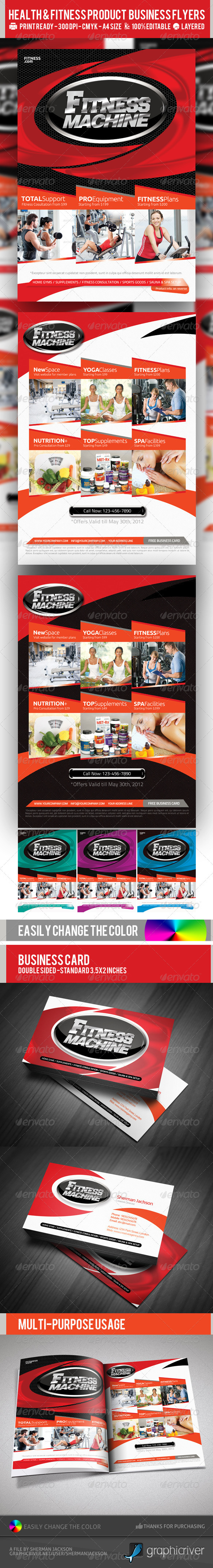 GraphicRiver Multipurpose Fitness or Product Flyer PSD Template 2347386