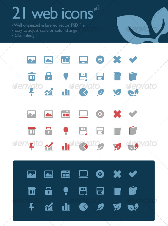 GraphicRiver 21 web icons #3 88692