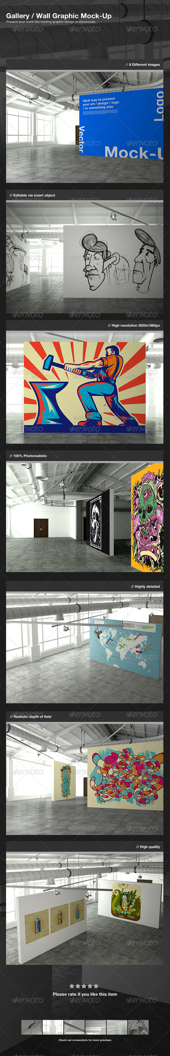 GraphicRiver Gallery Wall Graphic Mock-Up 2409693