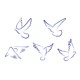 Set of white doves - GraphicRiver Item for Sale