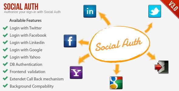 Codecanyon SocialAuth-Facebook+Twitter+Linkedin+Google Login