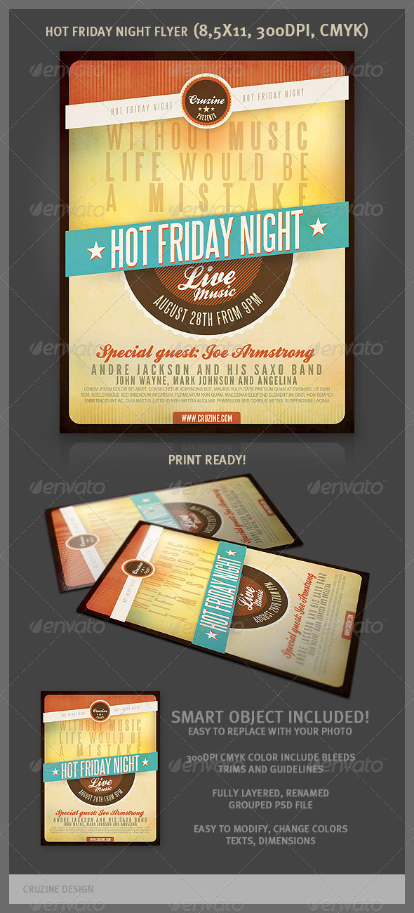 GraphicRiver Hot Friday Night Flyer 2415062