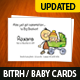 Birth/Baby Announcement Card - GraphicRiver Item for Sale