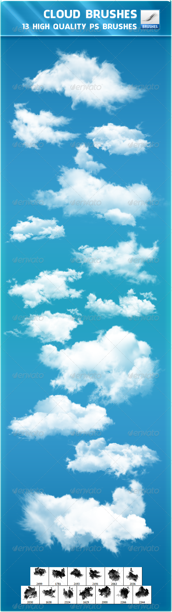 GraphicRiver Cloud Brushes 2415453