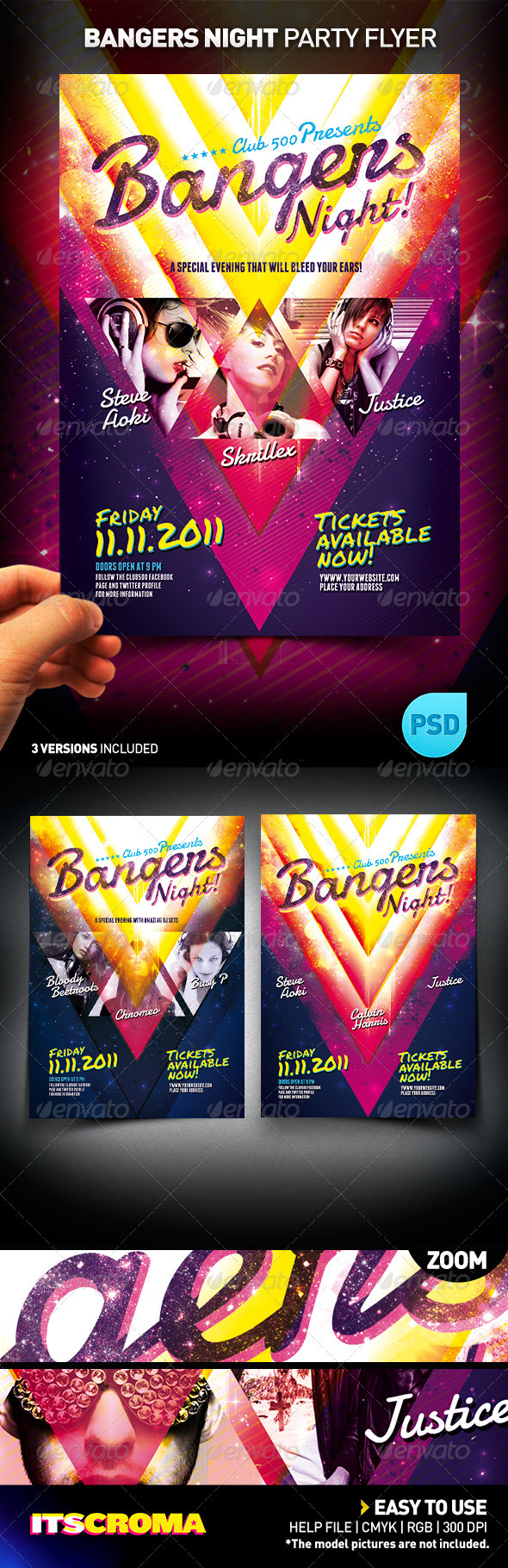 GraphicRiver Bangers Night Party Flyer Act 1 308674