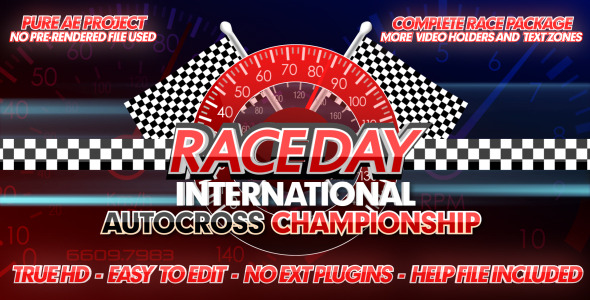VideoHive Race Day A Complete Racing Package 2417635
