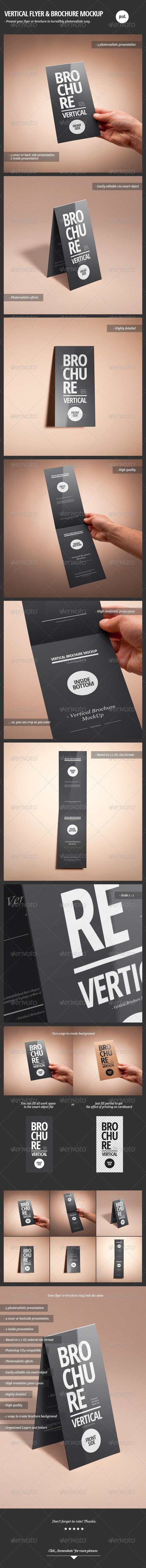 GraphicRiver Vertical Flyer & Brochure Mock-Up 2375888