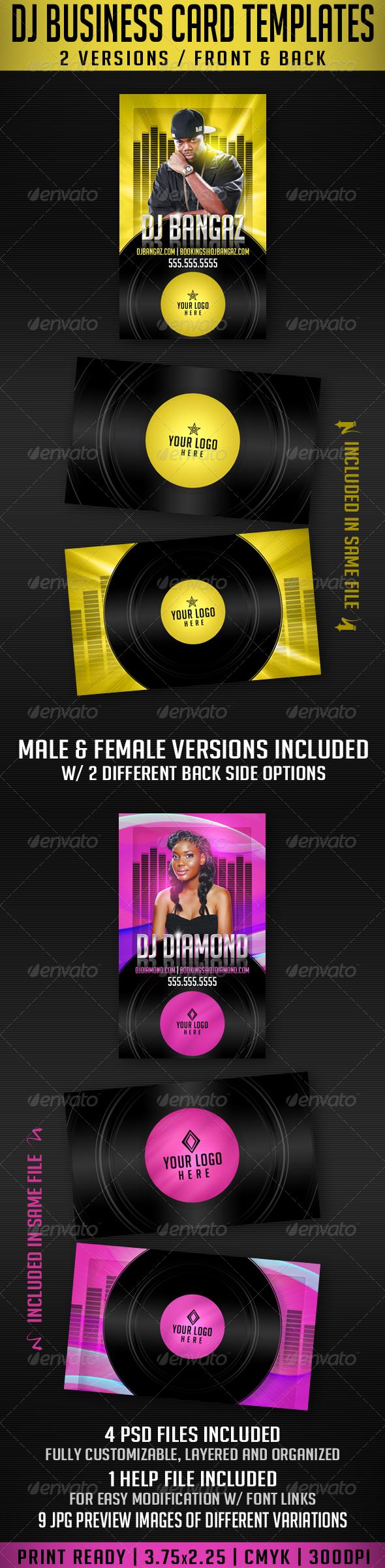 GraphicRiver DJ Business Card Templates 2418391