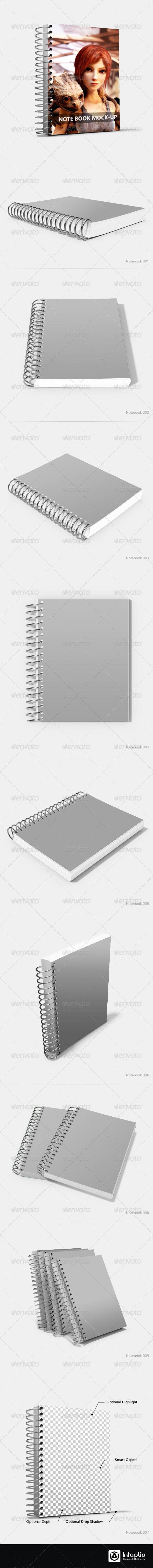 GraphicRiver Spiral Notebook Mock-Up 2418400