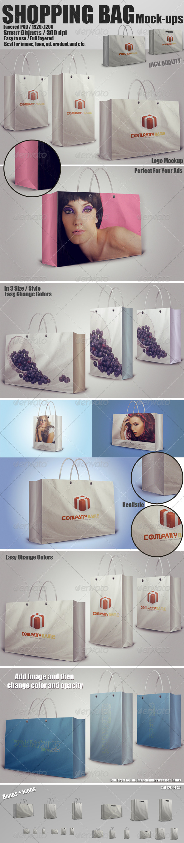 GraphicRiver Shopping Bag Mockups PSD 2418740