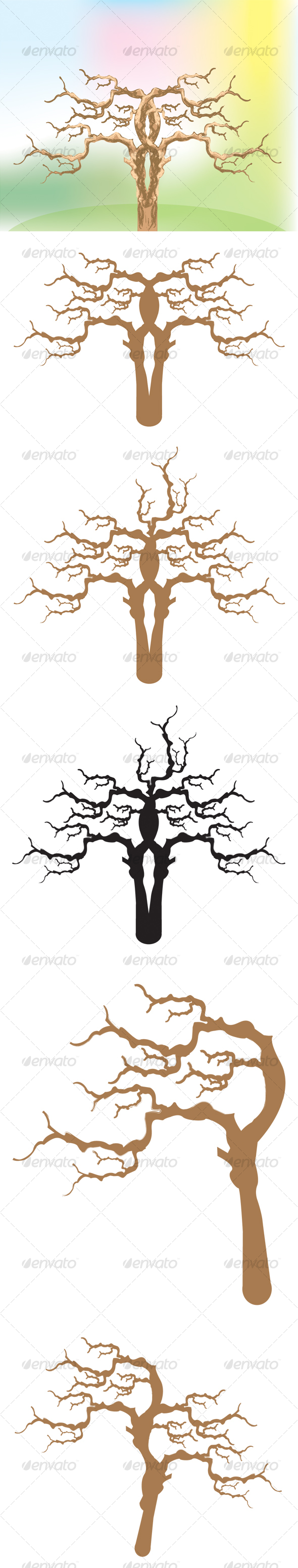 GraphicRiver Vector trees 88938