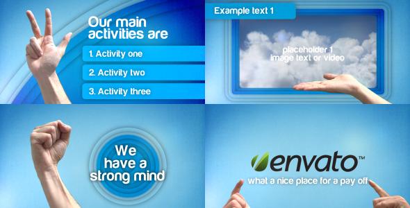 VideoHive Hand Gesture Promotion Presentation 2421658