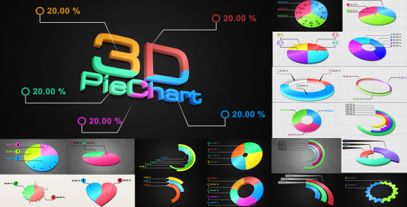 VideoHive 3D Pie Charts 2421712