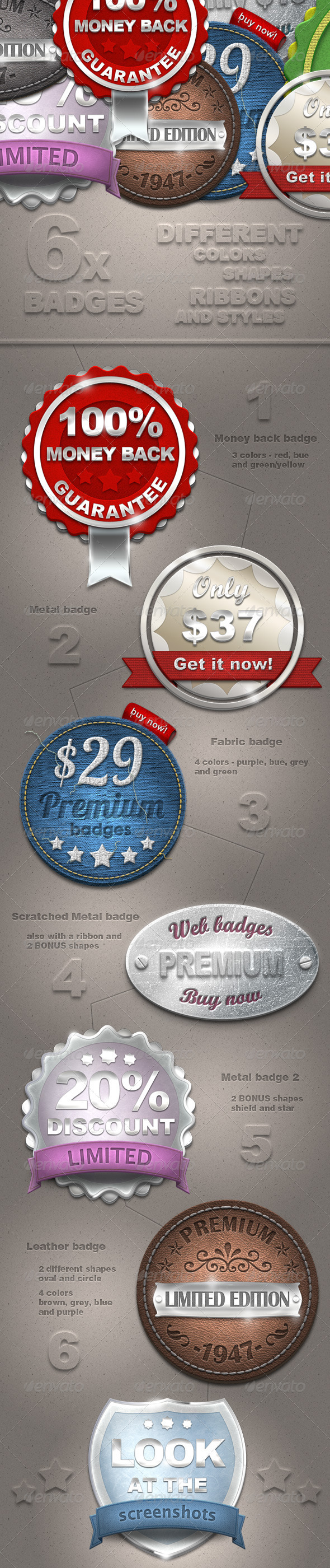 GraphicRiver New Web Badges 2422119