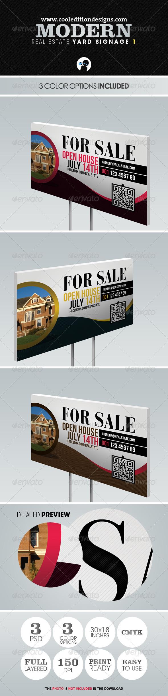 GraphicRiver Modern Real Estate Yard Signage 1 2410929