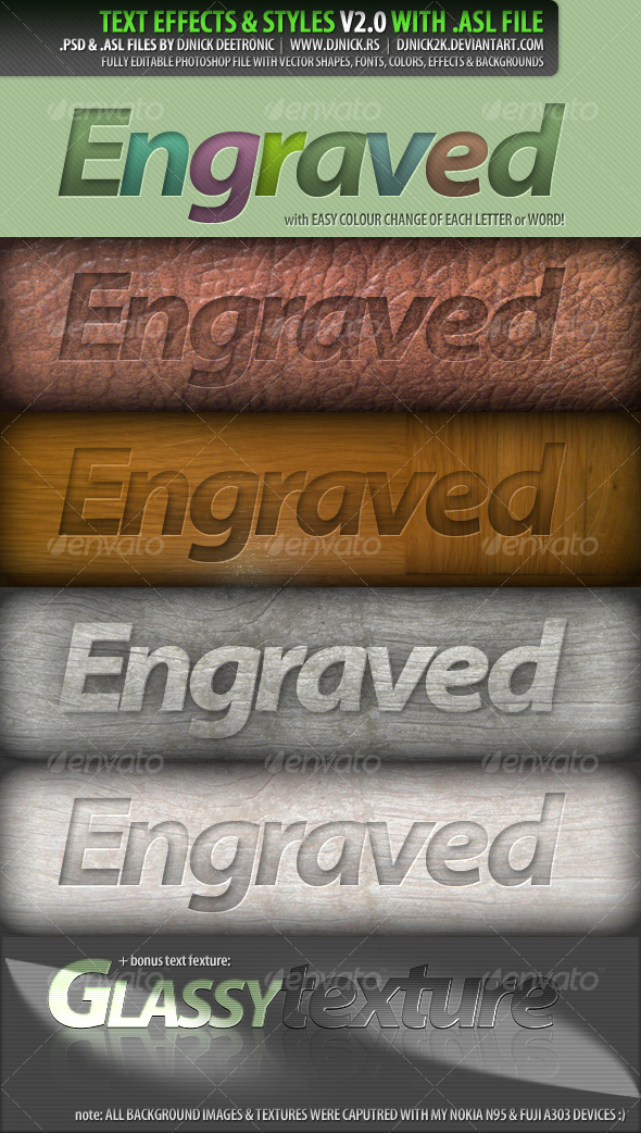 GraphicRiver PSD Text Effects and Styles 2 by djnick deetronic 89021