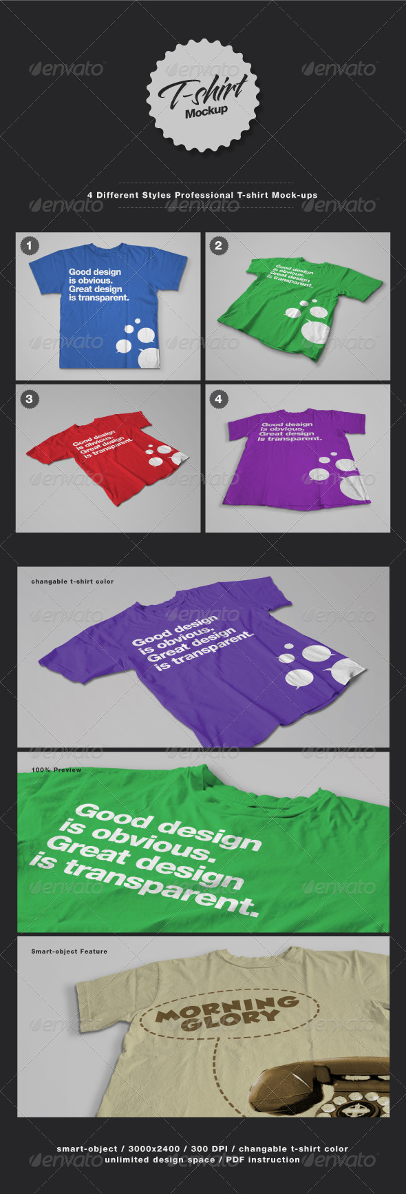 GraphicRiver T-Shirt Mock-ups 2423925