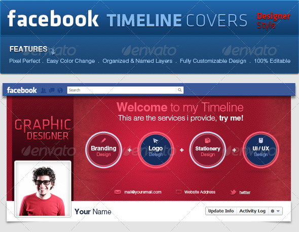 GraphicRiver Facebook Covers Pro Style 2291403