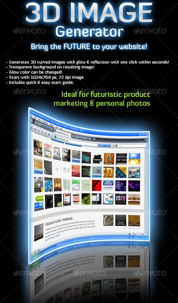 GraphicRiver 3D Image Generator Action 89111