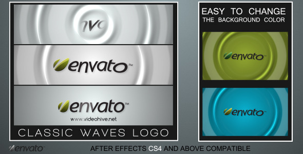 After Effects Project - VideoHive Classic Waves Logo 2427311