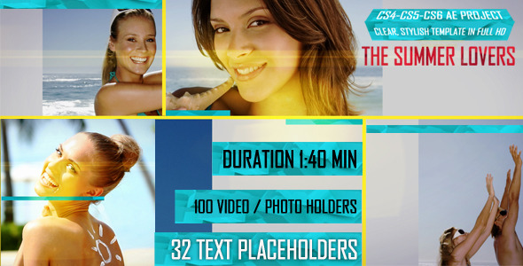 After Effects Project - VideoHive The Summer Lovers 2427393