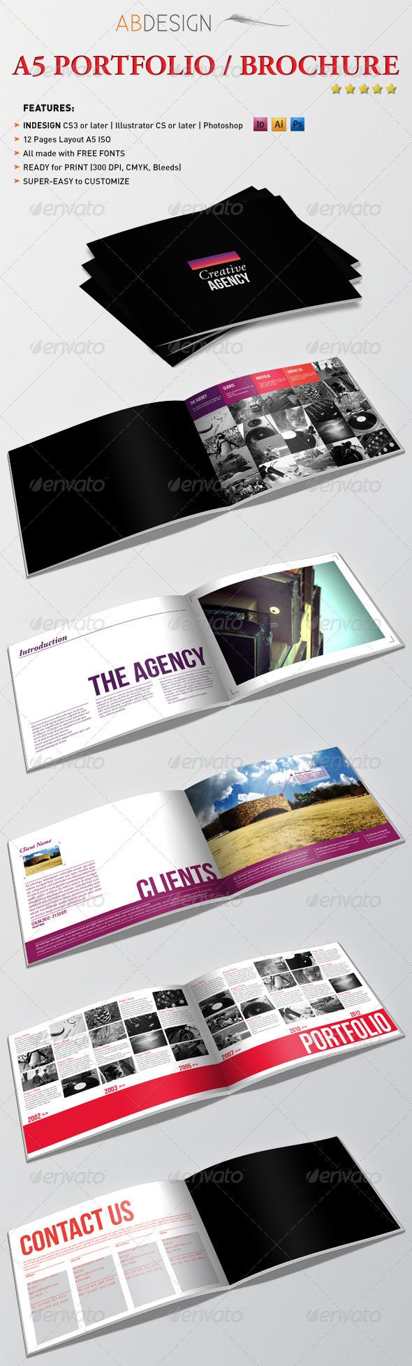 GraphicRiver A5 Portfolio Brochure 2403638